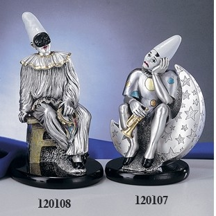 Silver Clown Pulcinella