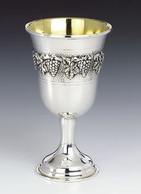 Silver Wine Goblet Grapes
